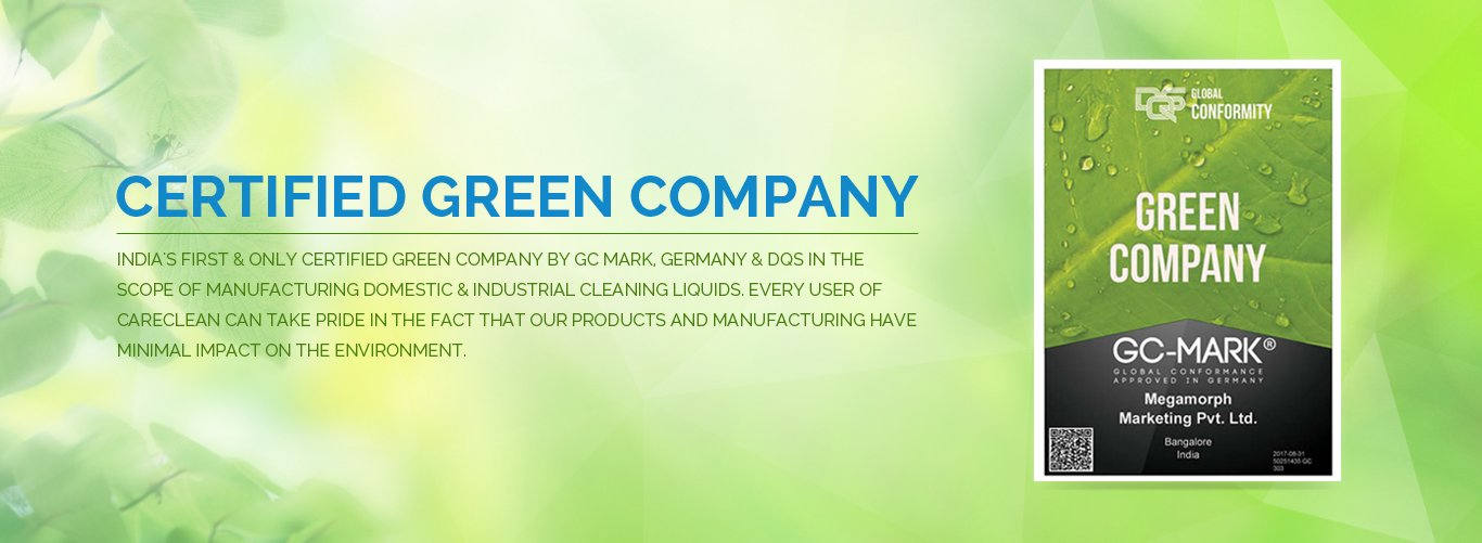 Certified Green Company | CareClean